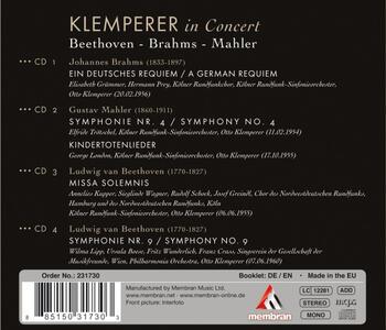 Klemperer in Concert - CD Audio di Ludwig van Beethoven,Johannes Brahms,Gustav Mahler,Otto Klemperer - 2