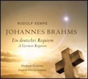 Un Requiem tedesco (Ein Deutsches Requiem) - CD Audio di Johannes Brahms,Berliner Philharmoniker,Dietrich Fischer-Dieskau,Elisabeth Grümmer,Rudolf Kempe