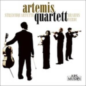 Quartetti d'archi - CD Audio di Johannes Brahms,Giuseppe Verdi,Artemis Quartet