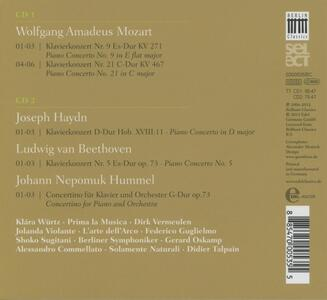 From Vienna with Love. Concerti per pianoforte - CD Audio di Ludwig van Beethoven,Franz Joseph Haydn,Wolfgang Amadeus Mozart,Johann Nepomuk Hummel - 2