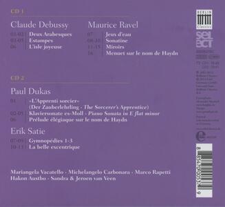 Piano Music Grand-Mondain - CD Audio di Claude Debussy,Maurice Ravel,Erik Satie,Paul Dukas - 2