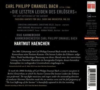Die Letzten Leiden des Erlösers - CD Audio di Carl Philipp Emanuel Bach,Hartmut Haenchen - 2
