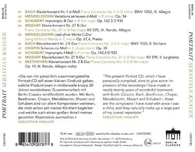 Portrait.piano Masterwork - CD Audio di Sebastian Knauer - 2