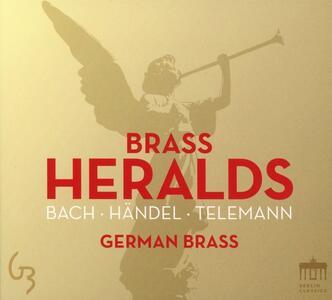 Brass Heralds - CD Audio di Johann Sebastian Bach,Georg Philipp Telemann,Georg Friedrich Händel