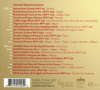 Brass Heralds - CD Audio di Johann Sebastian Bach,Georg Philipp Telemann,Georg Friedrich Händel - 2