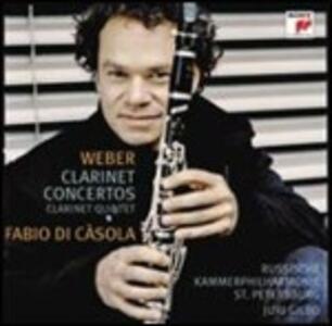 Concerti per clarinetto n.1, n.2 - Quintetto con clarinetto (Arr. per clarinetto e archi) - SuperAudio CD ibrido di Carl Maria Von Weber,Fabio Di Casola