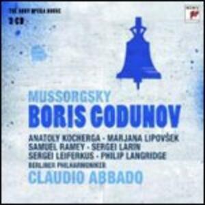 Boris Godunov - CD Audio di Modest Petrovich Mussorgsky,Claudio Abbado,Berliner Philharmoniker,Samuel Ramey,Sergei Leiferkus,Marjana Lipovsek,Philip Langridge,Anatoly Kocherga