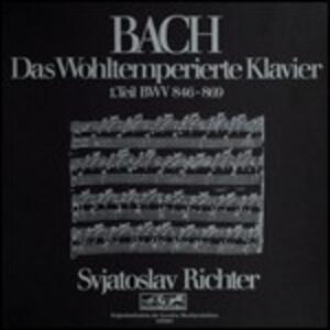 Il clavicembalo ben temperato vol.1 (Das Wohltemperierte Clavier teil 1) - CD Audio di Johann Sebastian Bach,Sviatoslav Richter