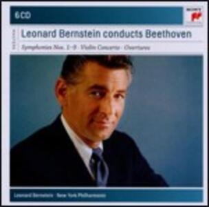 Sinfonie complete - Ouvertures - Concerto per violino - CD Audio di Ludwig van Beethoven,Leonard Bernstein,New York Philharmonic Orchestra