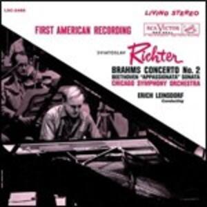 Concerto per pianoforte n.1 / Concerto per pianoforte n.2 - CD Audio di Ludwig van Beethoven,Johannes Brahms,Sviatoslav Richter,Erich Leinsdorf,Chicago Symphony Orchestra,Boston Symphony Orchestra