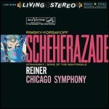Scheherazade / Le chant du rossignol - CD Audio di Igor Stravinsky,Nikolai Rimsky-Korsakov,Fritz Reiner,Chicago Symphony Orchestra