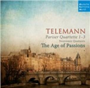 Quartetti parigini - CD Audio di Georg Philipp Telemann,Hille Perl,Age of Passions