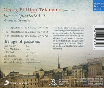 Quartetti parigini - CD Audio di Georg Philipp Telemann,Hille Perl,Age of Passions - 2