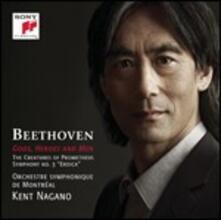 Gods, Heroes and Men. Sinfonia n.3 - Le creature di Prometeo - CD Audio di Ludwig van Beethoven,Kent Nagano,Orchestra Sinfonica di Montreal