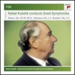 Sinfonie n.35, n.36, n.38, n.39, n.40, n.41 / Sinfonie n.1, n.2, n.3, n.4 / Sinfonie n.3, n.4 - CD Audio di Anton Bruckner,Wolfgang Amadeus Mozart,Robert Schumann,Rafael Kubelik,Orchestra Sinfonica della Radio Bavarese