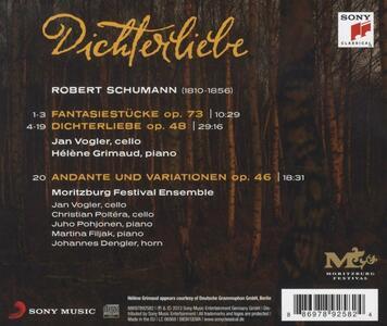 Dichterliebe - CD Audio di Robert Schumann,Hélène Grimaud,Jan Vogler - 2
