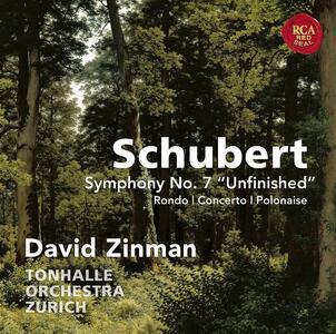 Sinfonia n.7 (8 Incompiuta) - Rondò - Concerto e polacca - CD Audio di Franz Schubert,David Zinman,Orchestra Tonhalle Zurigo