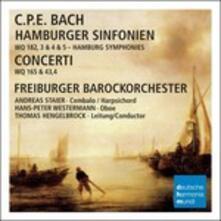 Sinfonie Amburghesi - Concerti - CD Audio di Carl Philipp Emanuel Bach,Andreas Staier,Thomas Hengelbrock,Freiburger Barockorchester