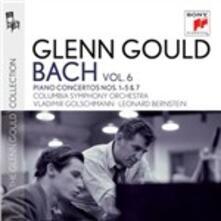 Concerti per pianoforte nn.1-5, n.7 - CD Audio di Johann Sebastian Bach,Glenn Gould