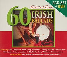 60 Greatest Ever Irish Ballads - CD Audio + DVD