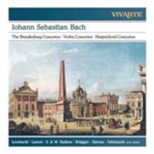 Concerti brandeburghesi - Concerti per violino - CD Audio di Johann Sebastian Bach