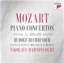 Concerti per pianoforte n.23, n.25 - CD Audio di Wolfgang Amadeus Mozart,Nikolaus Harnoncourt,Rudolf Buchbinder,Concentus Musicus Wien