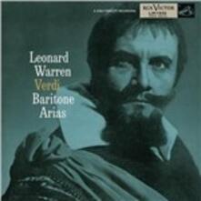 Arie da opere per baritono - CD Audio di Giuseppe Verdi,Leonard Warren