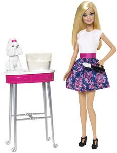 Giocattolo Barbie e Toilette Cuccioli Mattel 0
