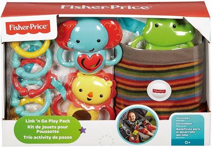 Giocattolo Kit da Passeggio Animaletti Agganciabili Fisher Price 0