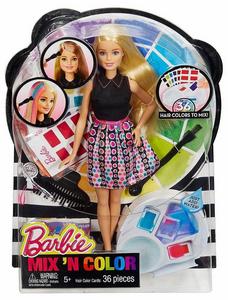 Giocattolo Barbie. Acconciature Colorate Mattel
