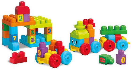 Giocattolo Mega Bloks. First Builders. Impara con il Treno Mega Bloks 0