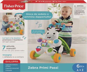 Giocattolo Fisher-Price Zebra Primi Passi, Giocattolo Istruttivo per Bambini 6+ Mesi. Mattel (DLD91) Fisher Price