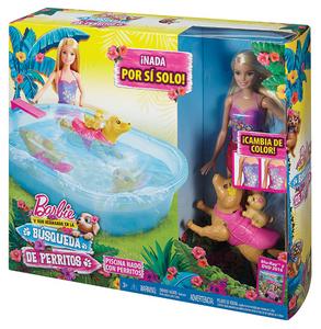 Giocattolo Barbie Nuota coi Cuccioli Mattel