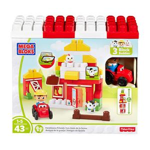 Giocattolo Mega Bloks DPJ57. First Builders. La Fattoria Mega Bloks 0