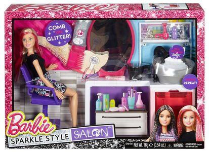 Giocattolo Mattel DTK05. Barbie Fashion And Beauty. Barbie E Il Salone Del Colore Mattel