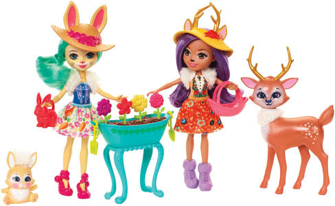Mattel FDG01. Enchantimals. Multipack. 2 Bambole Con Coniglietto E Cerbiatto