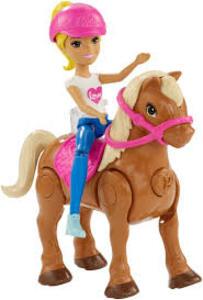 Mattel FHV63. Barbie. Barbie Parti E Via Con Pony Marrone Chiaro