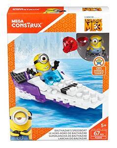 Minions Cattivissimo me 3 Mega Bloks Speedboat di Balthazar FLG00 - 2