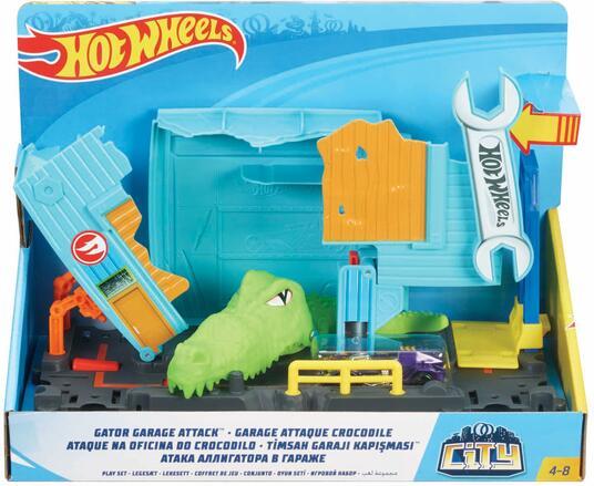 Hot Wheels Garage Dell'Alligatore. Pista per Macchinine a Tema Città - 2