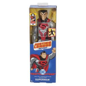Mattel FPC61. Justice League Action. Personaggio Base 30 Cm. Krypton Tech Superman