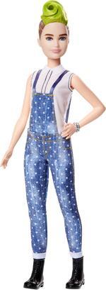 Barbie Fashionista. Bambola con Salopette Blu a Pois