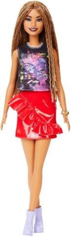 miglior servizio 62718 2b9a1 Barbie. Bambola Fashionistas con Gonna Rossa Lucida