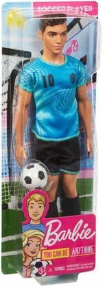 Barbie Ken Calciatore, Bambola Giocattolo per Bambini 3+ Anni, FXP02