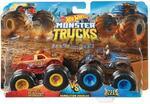 Monster Trucks Hot Wheels 2019 Demolition Doubles Police VS Hooligan Giant Wheels 1:64
