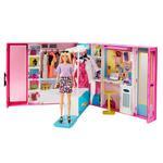 Barbie L'armadio dei sogni con Bambola Bionda e più di 25 accessori inclusi, per Bambini 3+ Anni. Mattel (GBK10)