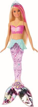 Barbie Dreamtopia Bambola Sirena Bionda con Coda Che Si Muove e Luci