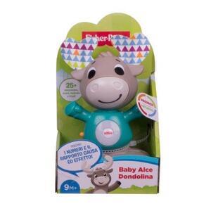 Giocattolo Fisher Price Parlamici Baby Alce Dondolina, Giocattolo Istruttivo per Bambini 9+ Mesi. Mattel (GJB17) Fisher Price