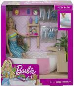 ?Barbie Vasca da Bagno Playset con Bambola Bionda e Accessori, Giocattolo per Bambini 3+ Anni. Mattel (GJN32)