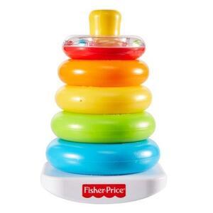 Giocattolo Fisher Price, Piramide 5 Anelli, Giocattolo Impilabile per Bambini 6+ Mesi. Mattel (GKD51) Fisher Price