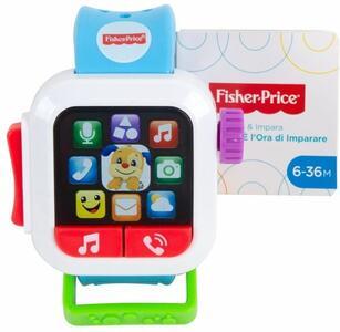 Giocattolo Fisher Price Smart Watch Scopri e Impara, Insegna Numeri e Colori, Giocattolo per Bambini 6+ Mesi, GMM57 Fisher Price